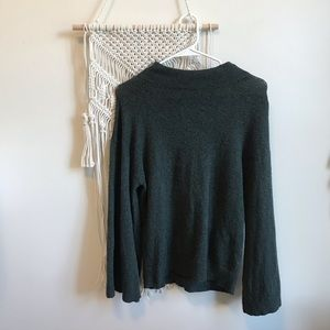 [BP.] Army Green Bell Sleeve Mock Beck Sweater